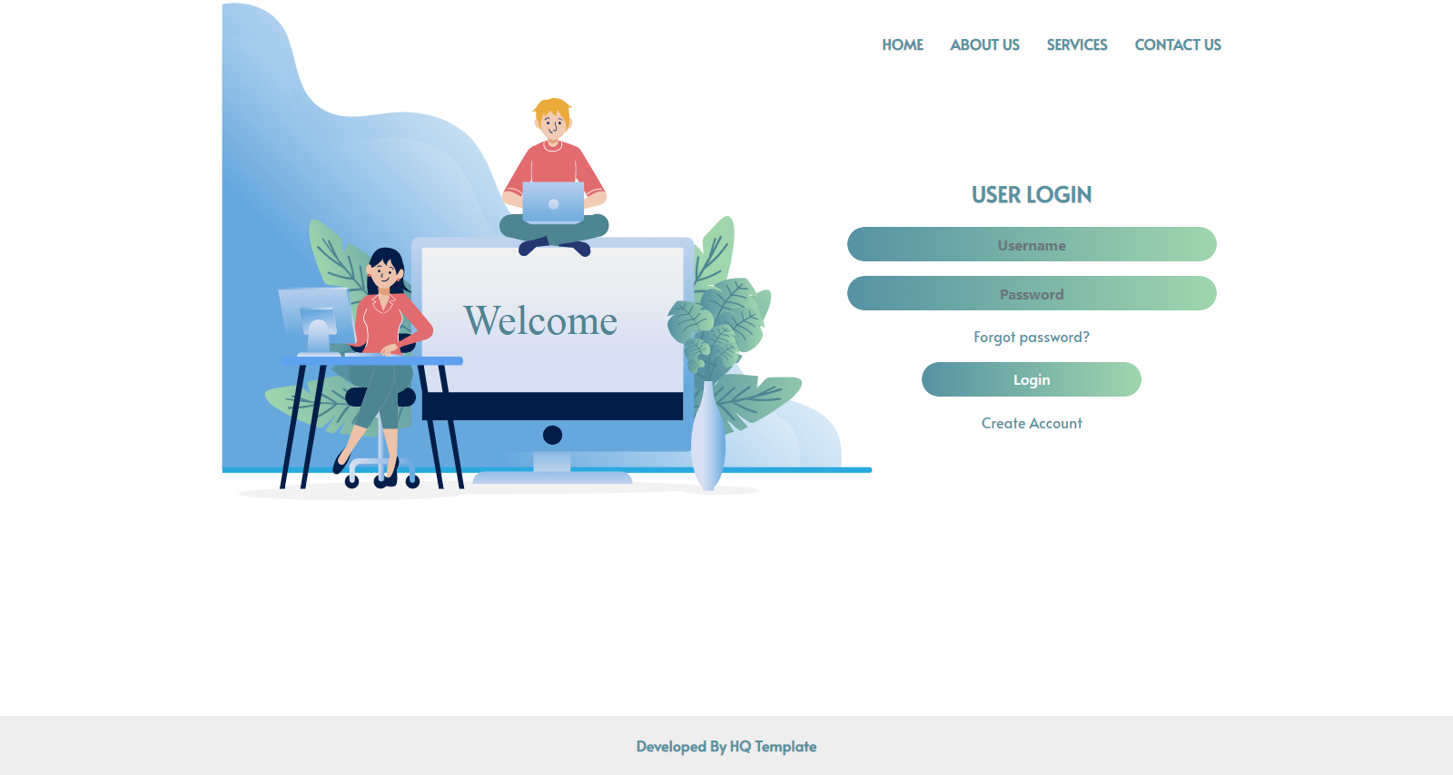 Bootstrap login page template
