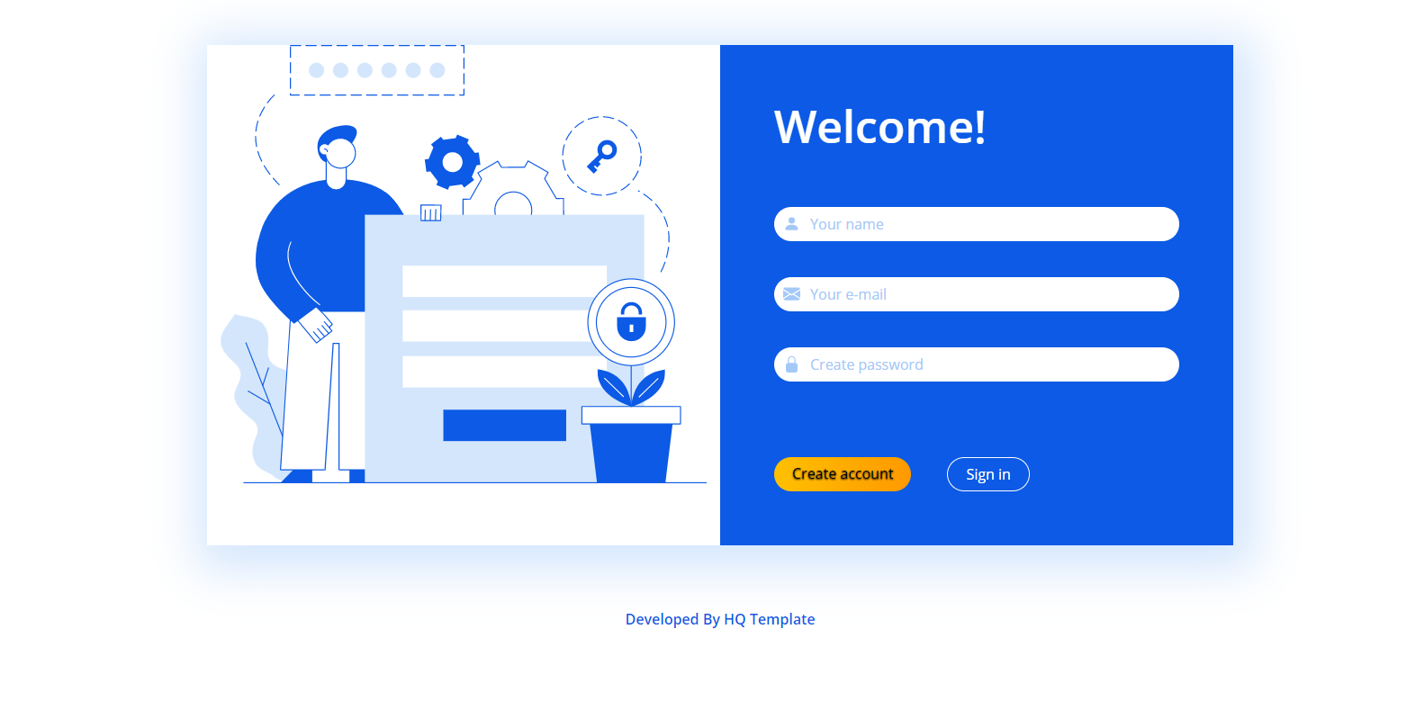 Bootstrap Register Page HTML Template
