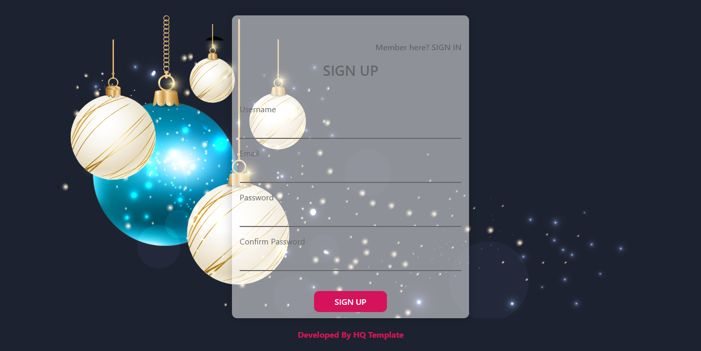 Happy New Year Sign Up Template